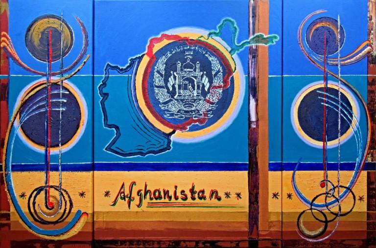 """""""Afghanistan"""", Acryl, Sept. 2021"""